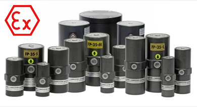 Vibrateur pneumatique à piston interne atex série FP EX